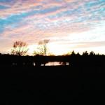 Sonnenuntergang über dem Columbia Lake auf meinem Weg zu einer besseren Ernährung.