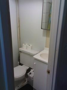 Das große Bad (groß ist relativ, aber da ist die Dusche drin)