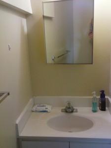 Waschbecken im zweiten Bad. Ist größer und komfortabler.