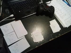 Wie man sehen kann, bin ich beim lernen voll bei der Sache... Was der Controller da macht weiß ich auch nicht.