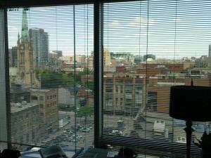 Blick aus dem Fenster im 14. Stock