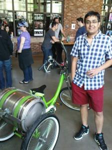 Tashrif und das Bierbike