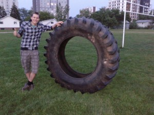 """Whats the purpose of this tire?"" ""I dunno. Maybe it is just tired..."""