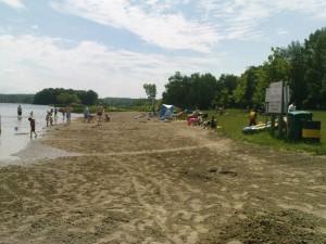 Der Strand von Laurel Creek